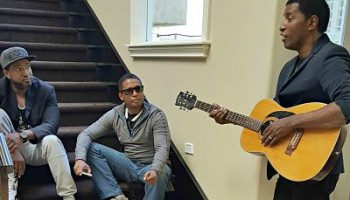 "Jason Edmonds and Kevon Edmonds with Kenny ""Babyface"" Edmonds"