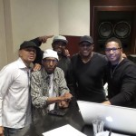 A pic of the team at work on the new 2016 album in the studio. Keith, Melvin, Jason (Melvin's son), Daryl Simmons (Writer/Producer) and Kevon