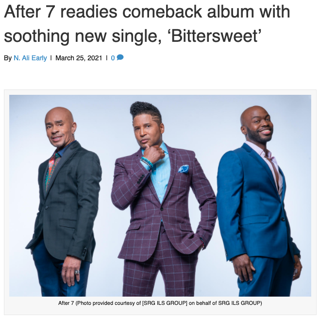 After 7 Bittersweet press release photo